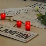 Trauerfeier zur Ausstelungseröffnung Sanierungsgebiet Teutoburger Platz 13.9.2013 Galerie Aedes